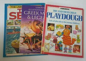 Usborne-Book-Lot-of-3-Seas-Greek-Myths-Playdough