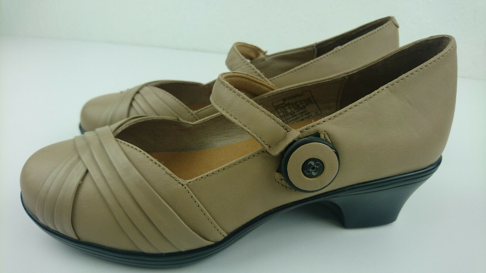 Dr Comfort Cindee 7 W Taupe Mary Jane Femmes Confort Orthopédique Boa sangle