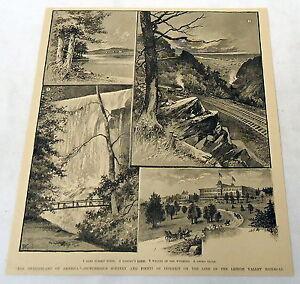1889-magazine-engraving-LEHIGH-VALLEY-RAILROAD-Glen-Summit-Wyoming-Onoko-Falls