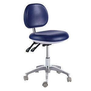 Dental-Medical-Office-Stool-Doctor-039-s-Stool-Adjustable-Mobile-Chair-PU-Leather-CE