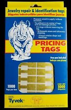 1000 Pcs Gold Price Tags Stickers Jewelry Square Barbell Labels Dumbbell Tags