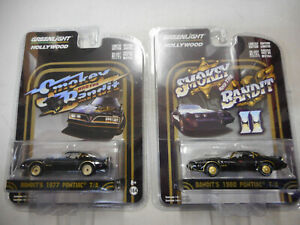 1:64 Greenlight Hollywood Smokey and the Bandit Pontiac 1977 T//A-modello di auto