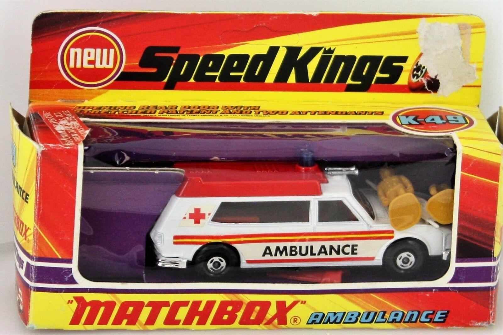 MATCHBOX SPEED KINGS AMBULANCE K-49(MIB)MOC 100%COMPLET