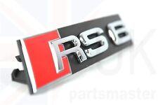 4B0853736B 2ZZ Genuine Audi RS6 Front Grill Badge Emblem Chrome Red Black Nos