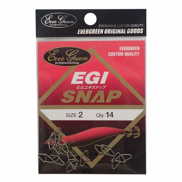 Evergreen Egi Snap size 2 Silver Egi Squid jig from stylish anglers japan