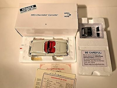 Danbury Mint 1953 Chevrolet Corvette w/ all papers MIB
