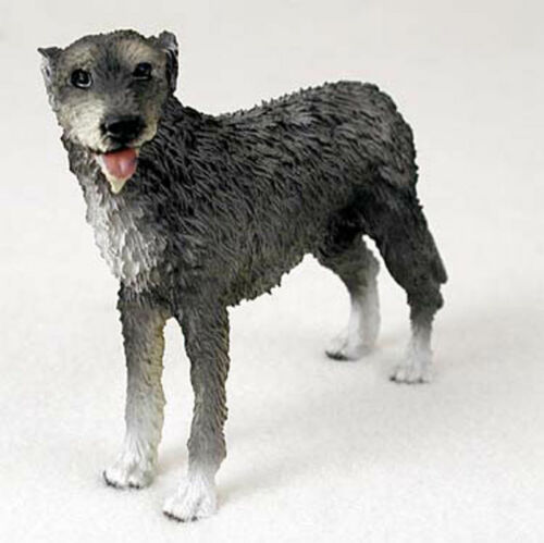Irish Wolfhound Figurine Hand Painted Collectible Statue