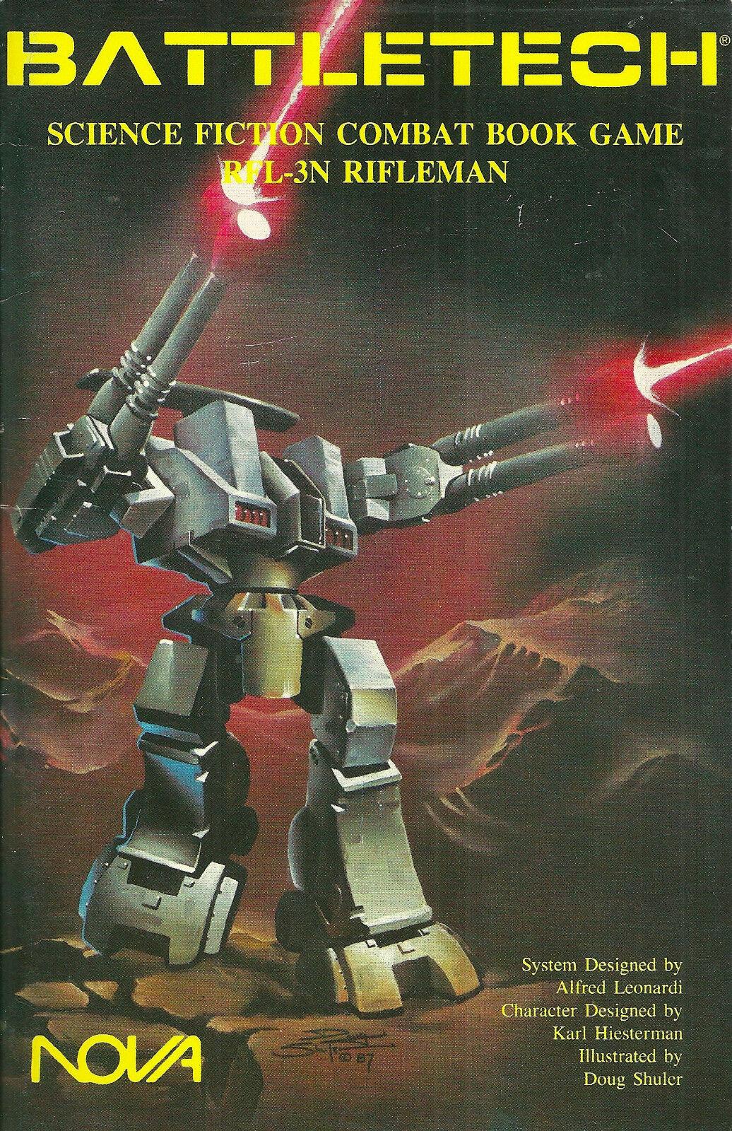 más orden Libro de combate  Battletech Ciencia Ficción juego juego juego RFL-3N Rifleman  1987 1ST pb NF -  diseñador en linea