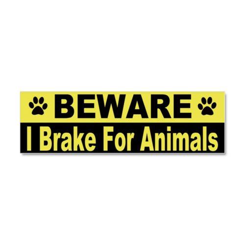 CafePress I Brake For Animals Car Magnet 1280399756