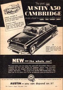 1955-AUSTIN-A50-CAMBRIDGE-BMC-AD-A4-POSTER-GLOSS-PRINT-LAMINATED-11-7-x8-3