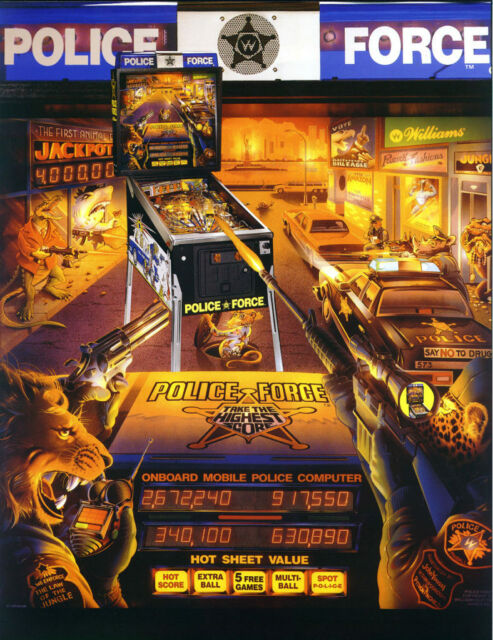 Police Force Pinball - CPU Rom Upgrade Set vL-4 [Williams]