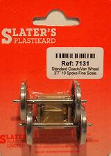 """Slaters 7131 1 x Pair Fine 3'7"""" 10 Spoke Coach/Van Wheels & Bearings 0 Gauge T48"""