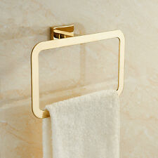 stainless steel hand towel ring holder rack gold wall mount bathroom bath hanger