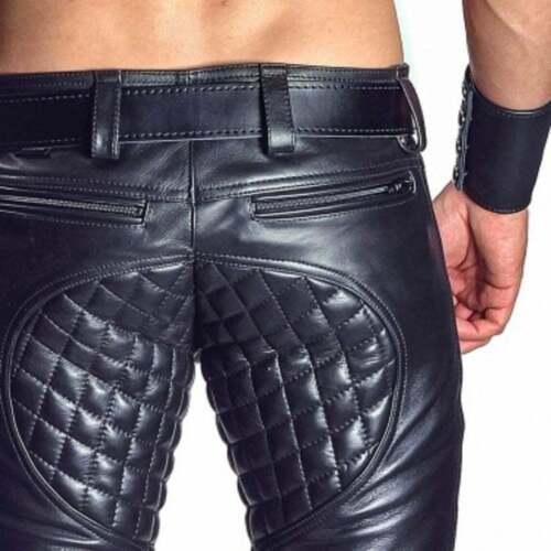men handmade black leather pants men pants men tro