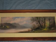 BEST WILLIAM HENRY CHANDLER (1854-1928) HUDSON RIVER LANDSCAPE PASTEL PAINTING