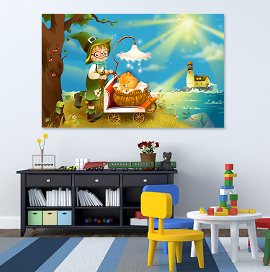 3D Light Baby Wall Stickers Vinyl Murals Wall Print Decal AJSTORE UK Lemon