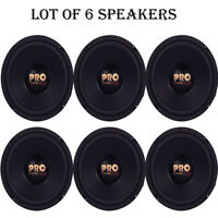 Lot Of 6 Pyramid W64 Woofers 6.5 400w Midbass Poly Woofer Midrange Speakers on sale