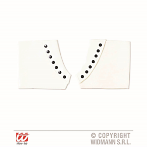 Spats Gangster Gentleman 1920s Fancy Dress White With Black Studs