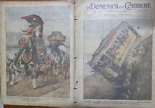 LA DOMENICA DEL CORRIERE 18 Ottobre 1925 Rouen tranvai Manchester Locomotive di