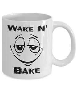Details about Wake N' Bake Smiley Face Emoji Coffee Cup Marijuana Cannabis  Weed Herb Blunt