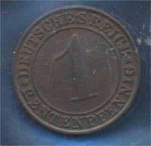 German-Empire-Jagerno-306-1923-J-ext-fine-1-Rentenpfennig-7879673