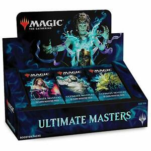 Magic-MTG-Ultimate-Masters-Booster-Box-Factory-Sealed-English-WITH-TOPPER