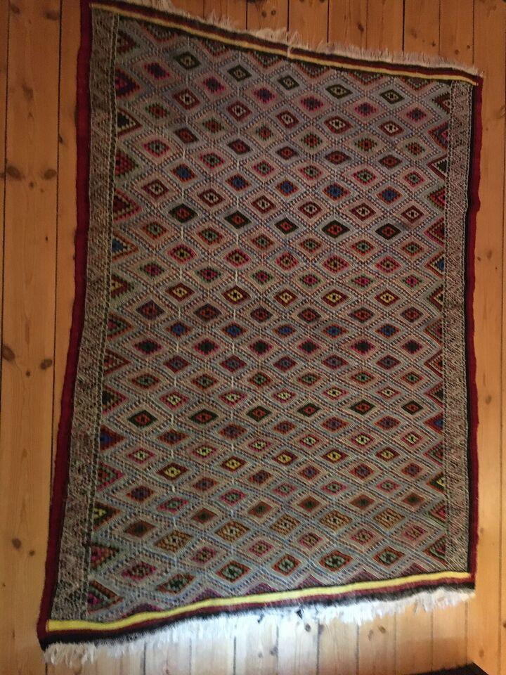 Gulvtæppe, ægte tæppe, b: 135 l: 180