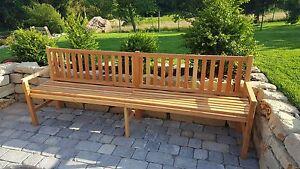 Gartenmöbel aus lärchenholz  Gartenbank Feierabend180cm-350cm/Parkbank/Holzbank/Gartenmöbel ...