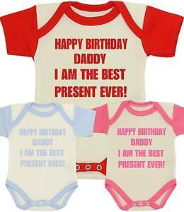 Das Bild Wird Geladen BabyPrem Baby Kleidung Body Happy Birthday Daddy Best