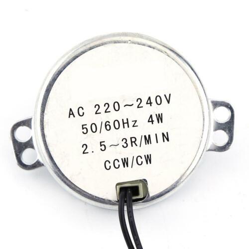 Getriebemotor Elektromotor Synchronmotor 220-240VAC 4W CW CCW Motor 0.3~1.4Nm DE