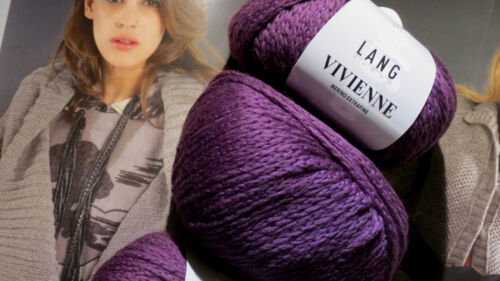 700 g Vivienne Lang Yarns Wolle Lana Merino 80 Aubergine N 5-6 extra weich LUXUS