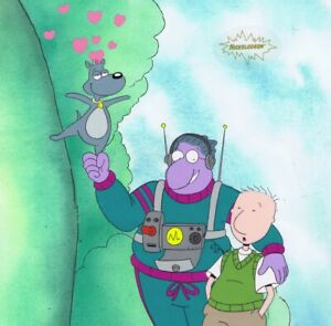 DOUG-FUNNIE-Original-Production-Cel-Cell-Animation-1990-039-s-Nickelodeon-Mr-Dink
