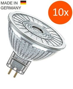 10 x OSRAM Led Star mr16 35 36 ° gu5.3 FARETTO in vetro 2700k LED FARETTO = 35w  </span>