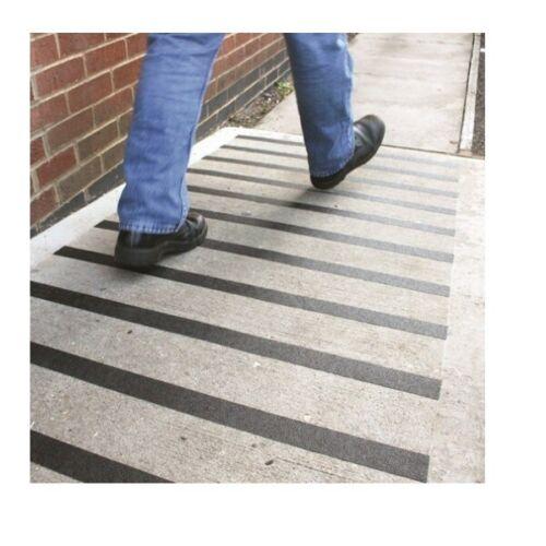 Schwarze Universal Antirutschband gegen rutchen Klebeband Treppen Eingang boden
