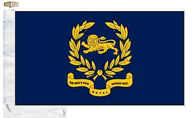 British Army Princess of Wales/'s Royal Regiment Boat Flag Roped /& Toggled