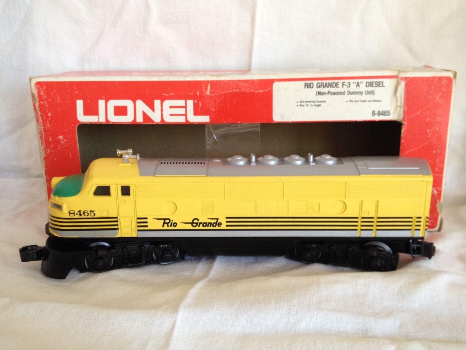 Lionel 1974 Rio Grande F-3  A  Diesel Set (SSS) & 8465