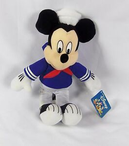 Toy-Factory-Disney-14-034-Stuffed-Plush-Mickey-Mouse-w-Tag