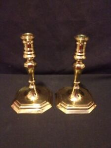 Pair-of-Virginia-Metalcrafters-VM-CW-16-35-Brass-Candlestick-Candle-Holders