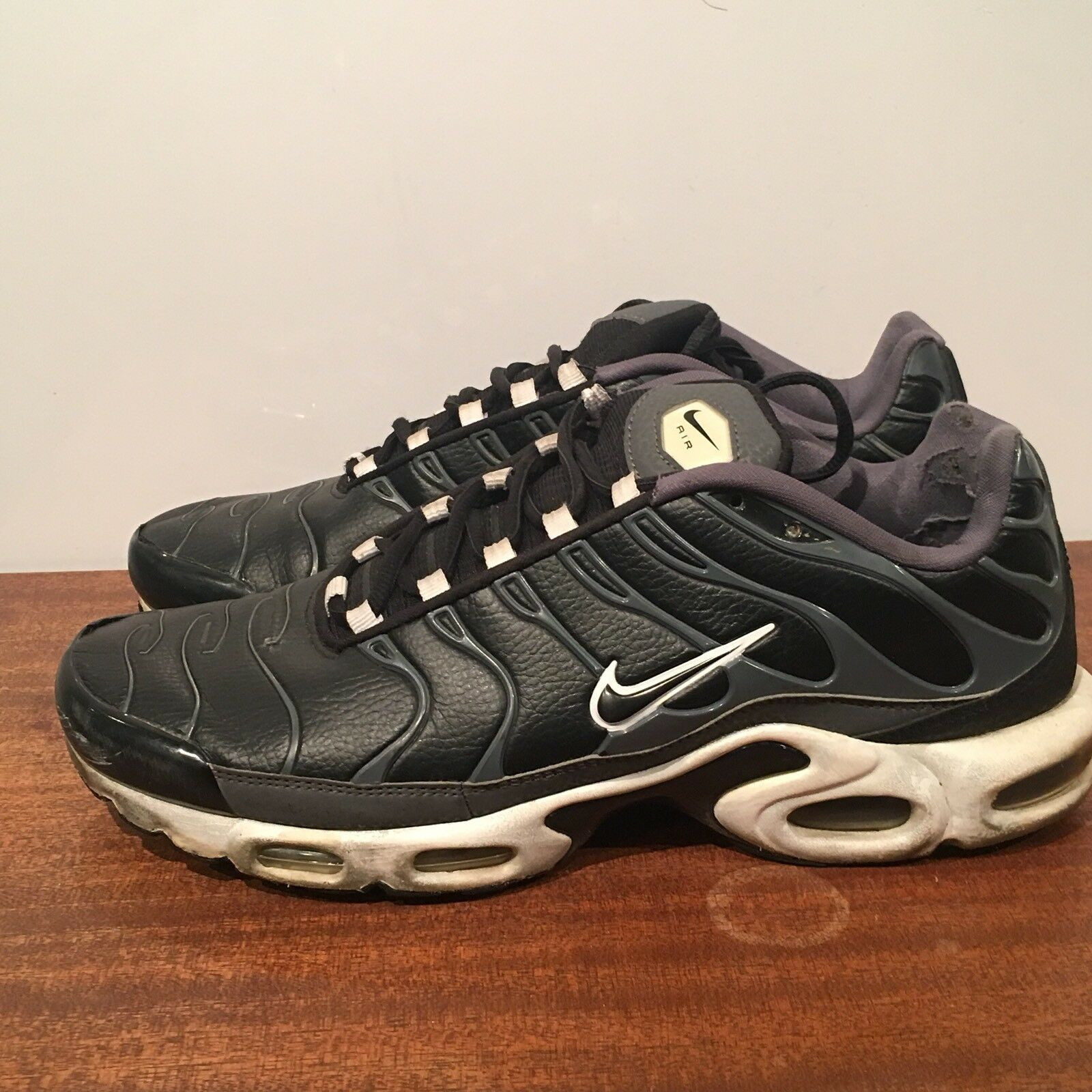 Nike Air Gris-Blanco Max Plus Zapatos TN negro / negro Gris-Blanco Air 604133-099 SZ 10 9fe94e