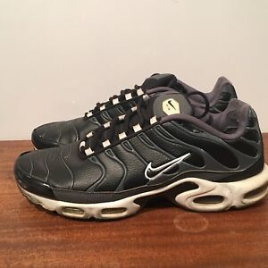 e08cc6f40fdc62 NIKE AIR MAX PLUS SHOES TN BLACK BLACK-DARK GREY-WHITE 604133-099 Sz ...