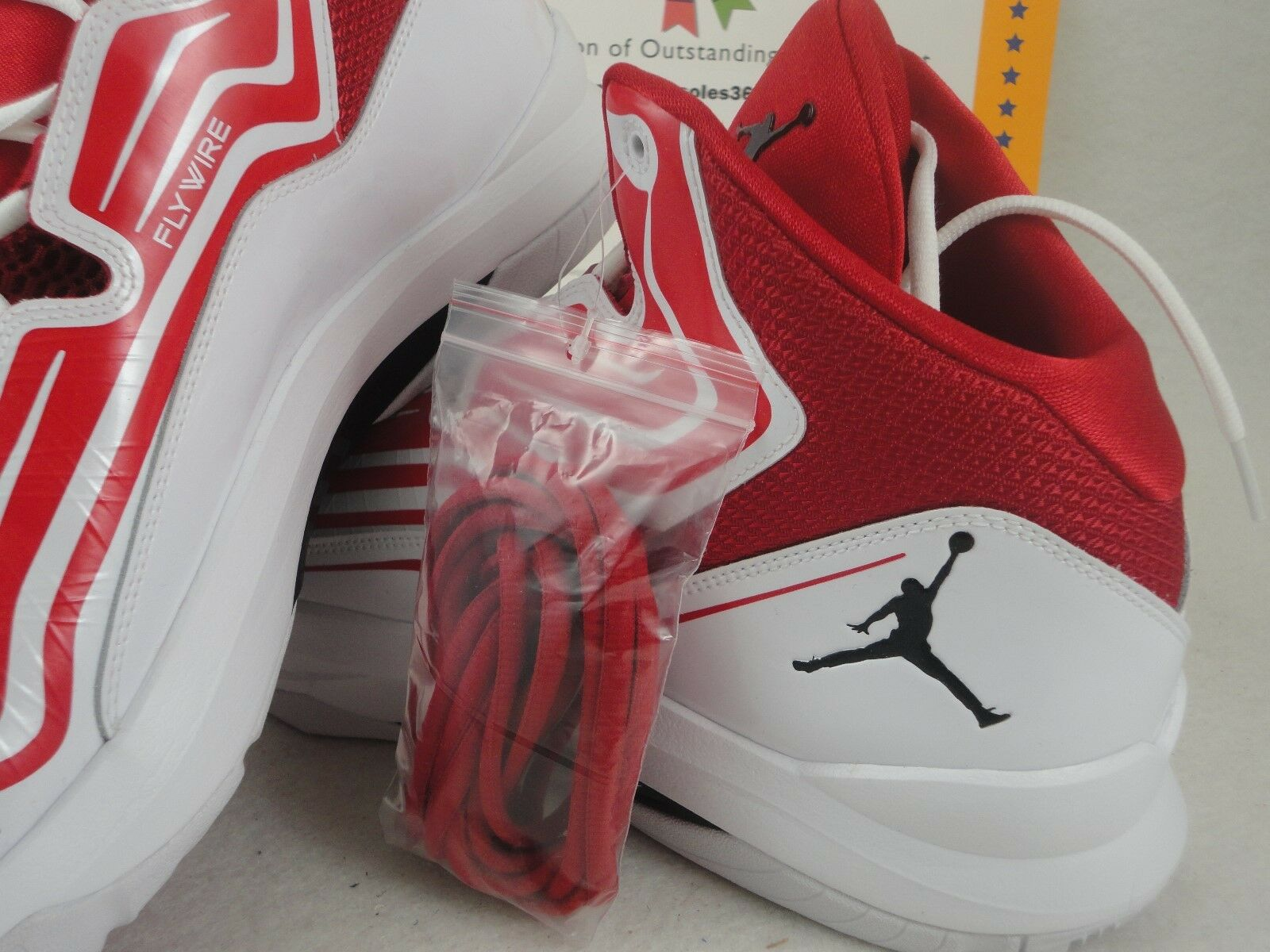 Nike jordan aero mania, palestra rosso / nero / bianco, numero 12