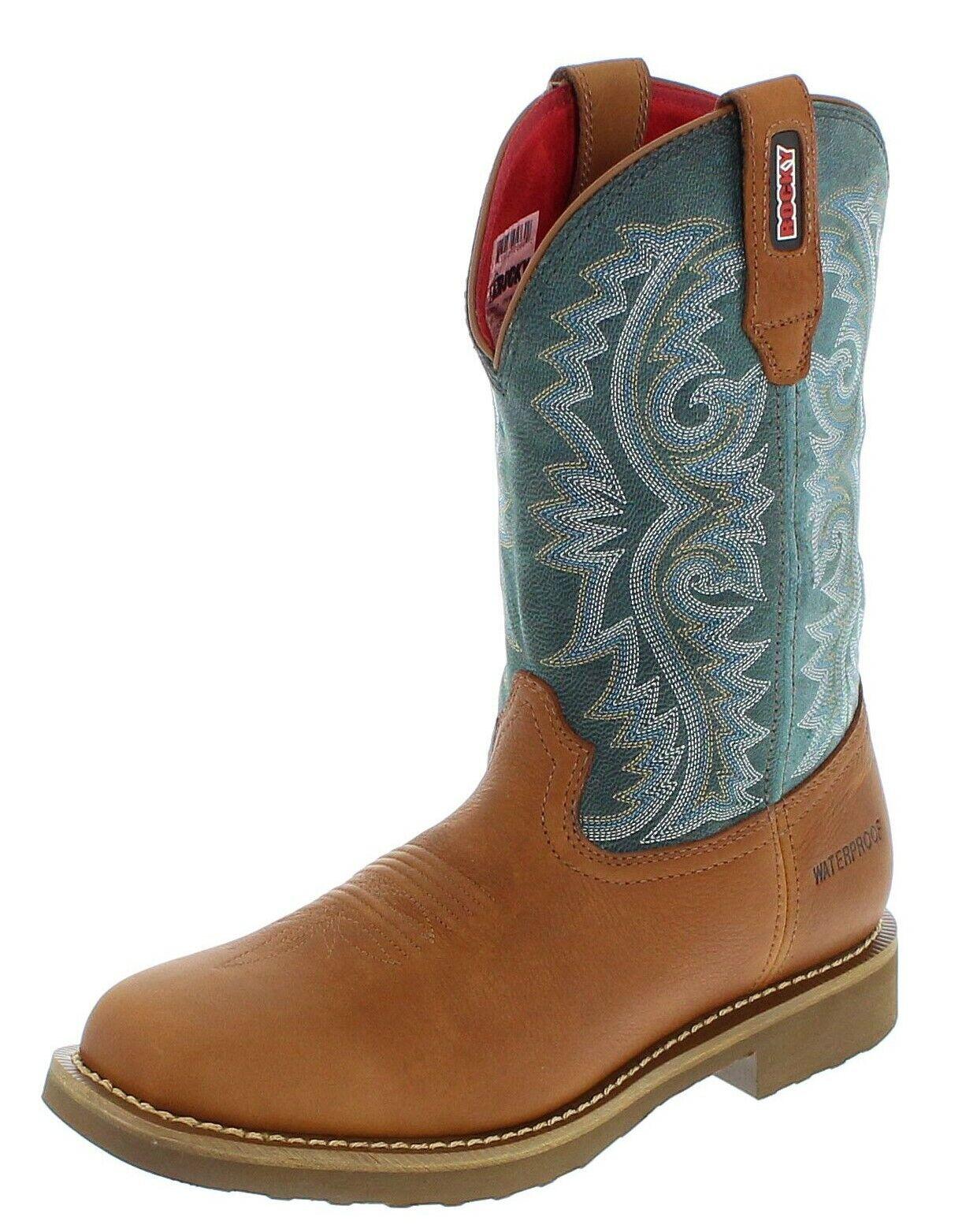 Rocky botas botas barntec rkw0127 marrón verde estanco westernreitbotas
