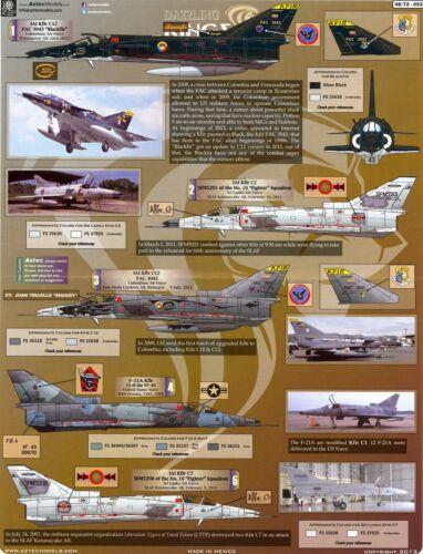 Aztec Decals 1//48 DAZZLING KINGS Israeli KFIR Jet Fighter Part 1