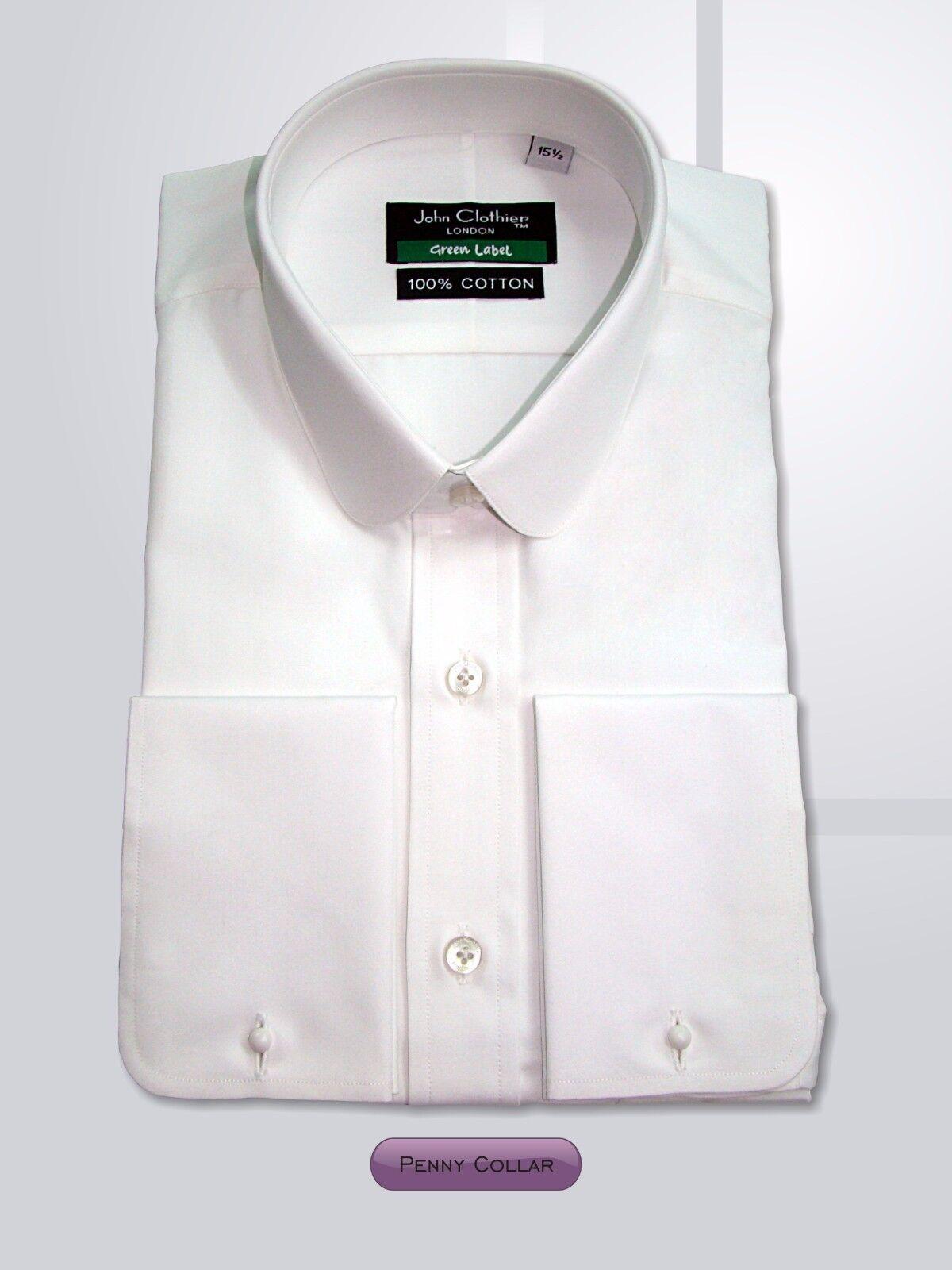 Plain Round collar  Herren shirt Cotton High quality Work Wear for Gents Cufflinks