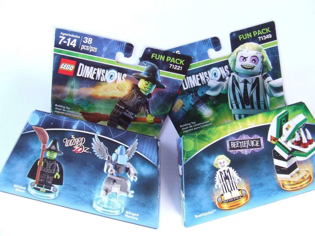 *New* Lego Dimensions Beetle Juice + The Wizard of OZ ( 71349 + 71221 )