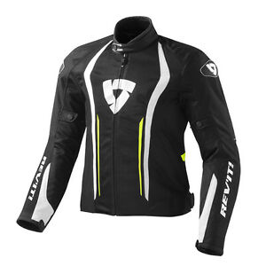 Rev-039-it-Armee-de-l-039-air-Veste-De-Moto-Noir-Jaune-Neon-REV-It-Revit-Toutes-Tailles