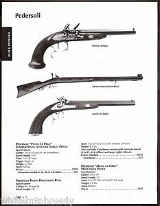Details about 2003 PEDERSOLI Pistol Le Page, Tryon Percussion Rifle Mang in  Graz Percussion AD