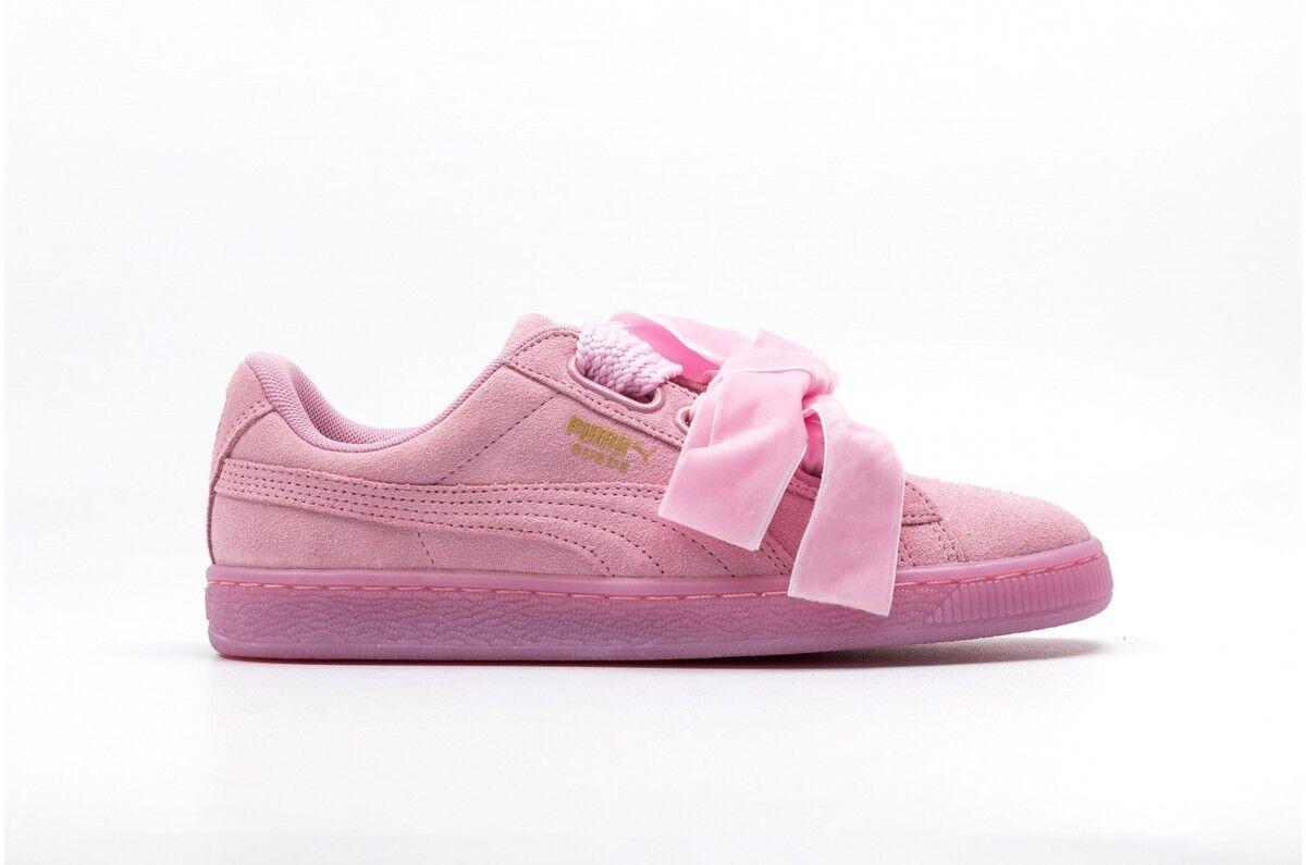 Zapatos promocionales para hombres y mujeres PUMA SCARPA BASKET HEART EXPLOSIVE Rosa 363229 02 Nuovo Donna TG 40-40.5