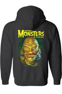 Famous-Monsters-Creature-From-The-Black-Lagoon-Zip-Up-Hoodie-Sweatshirt-Mens
