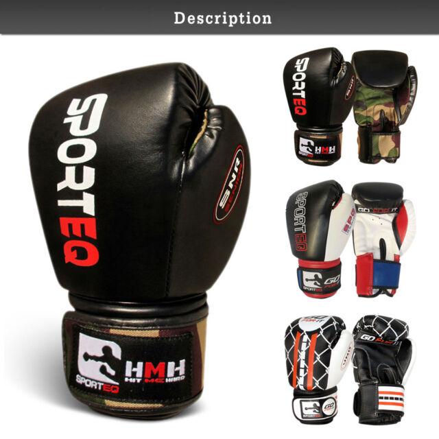 PUGILATO HEADGUARD in pelle SPORTEQ Arti Marziali Gear MMA Copricapo Kick Allenamento
